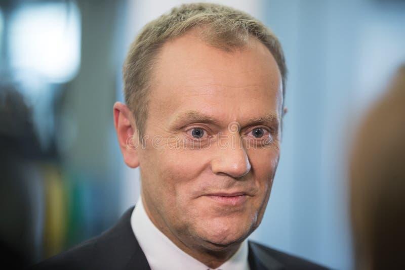 欧洲理事会唐纳德・图斯克的总统 免版税库存图片