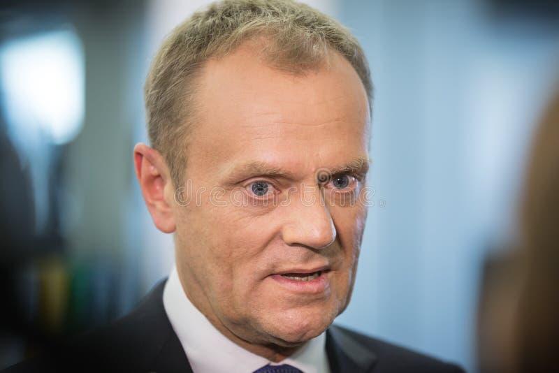 欧洲理事会唐纳德・图斯克的总统 图库摄影
