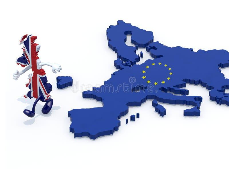 从欧洲的英国逃命 库存例证