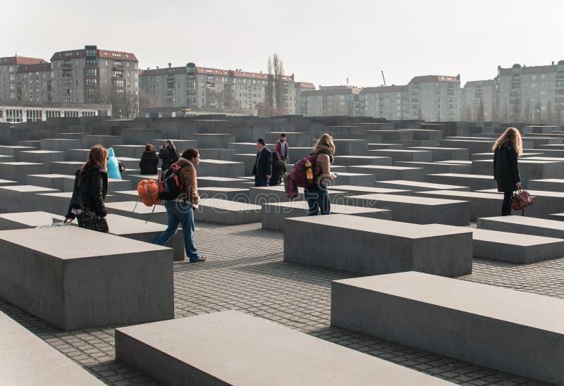 欧洲的被谋杀的犹太人的柏林纪念品 免版税图库摄影