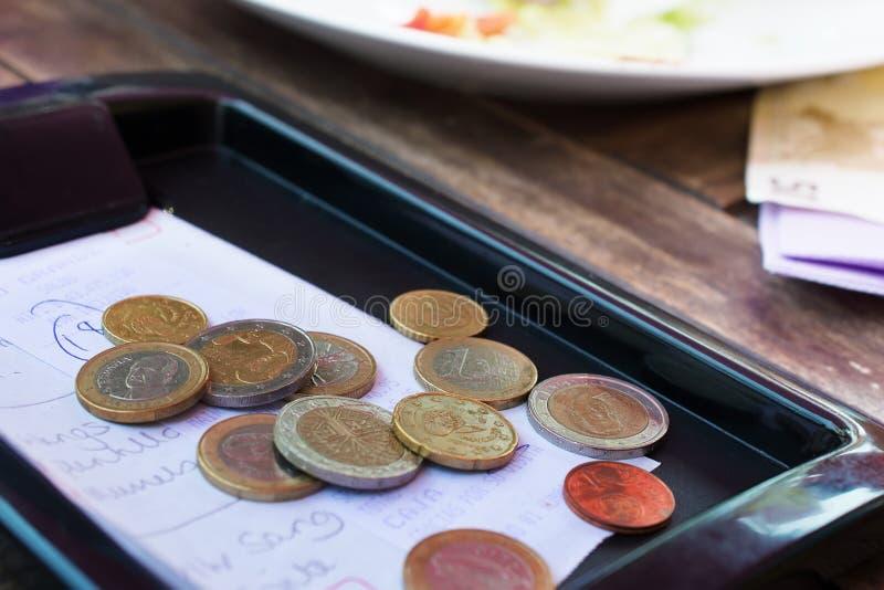 欧洲硬币。 免版税库存照片