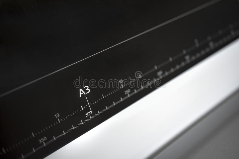 A3欧洲纸格式ruller 免版税图库摄影