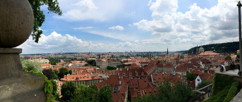 欧洲老布拉格地平线旅行 免版税库存图片