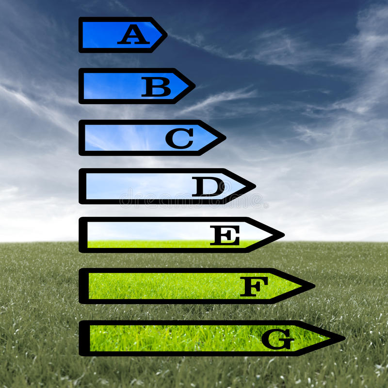 欧洲能量规定值证明 免版税图库摄影