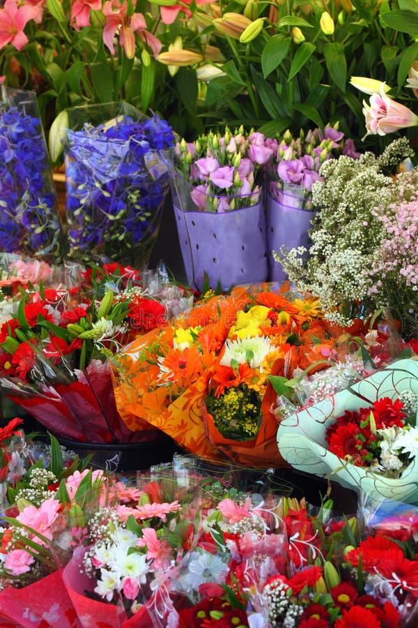 欧洲花店 库存图片