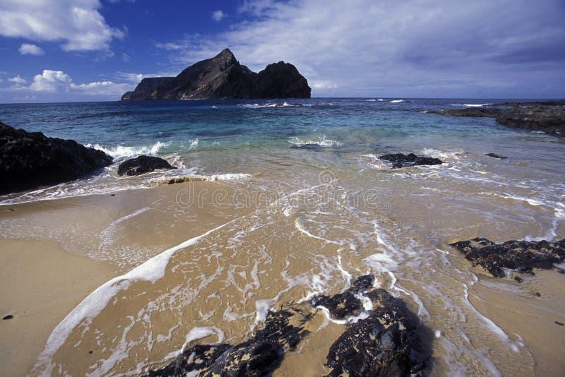 欧洲葡萄牙马德拉岛圣港海滩 免版税库存照片