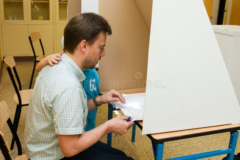 欧洲议会竞选, 2014年(波兰) 免版税库存照片