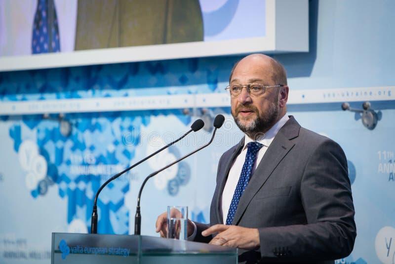 欧洲议会马丁Schulz总统 库存图片
