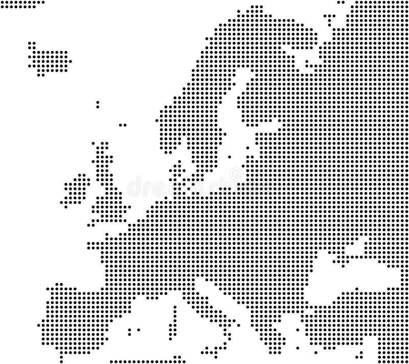 欧洲象素分布图  向量例证