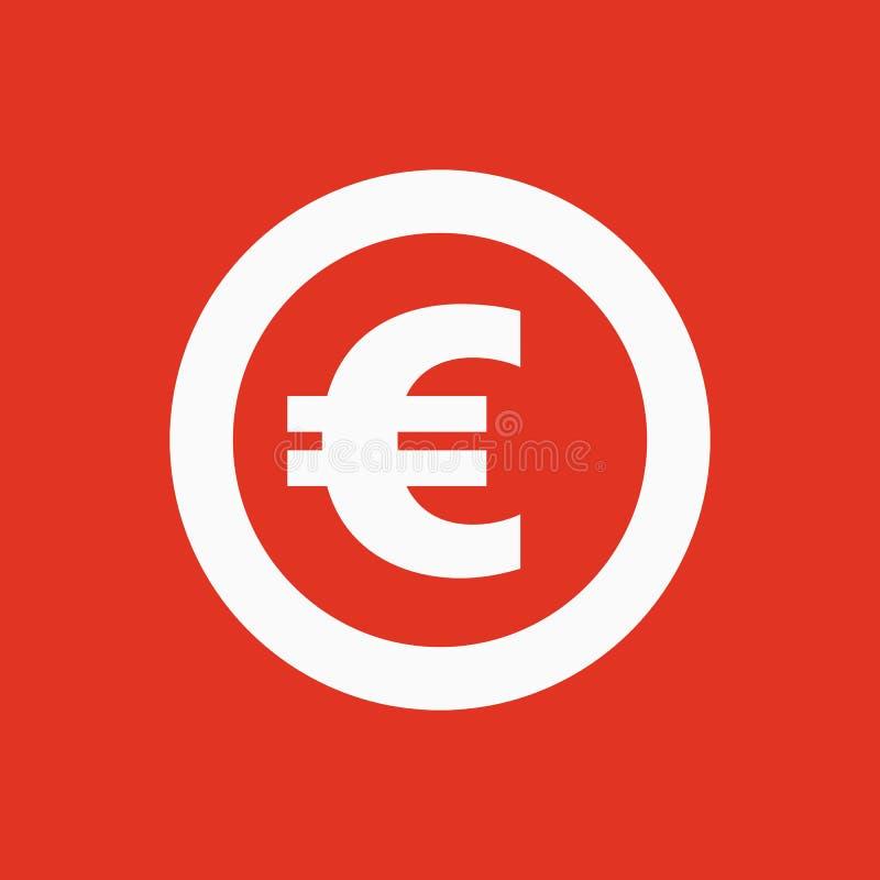 欧洲象 现金和金钱,财富,付款标志 平面 皇族释放例证