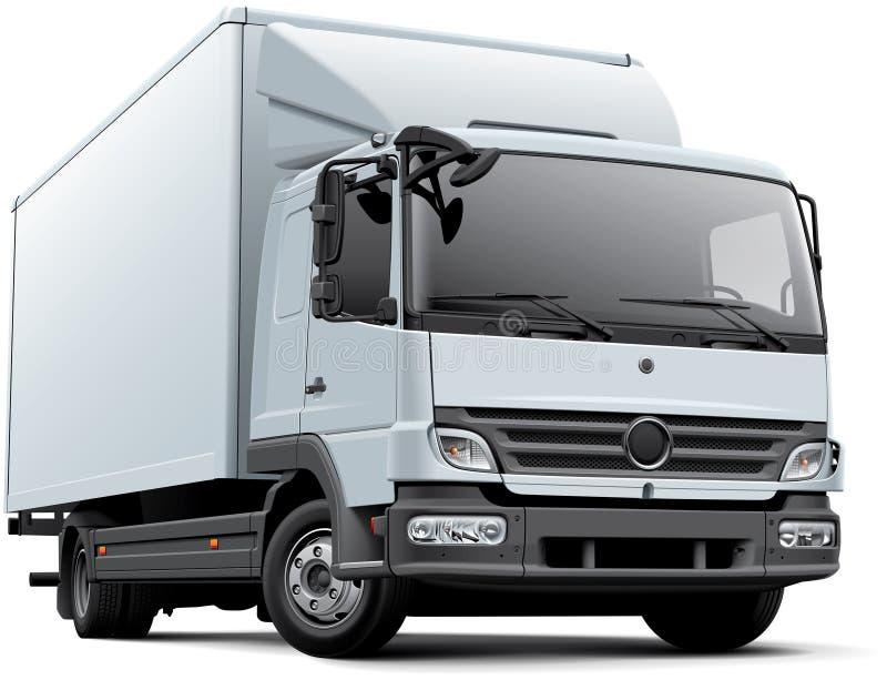 欧洲送货卡车 库存例证
