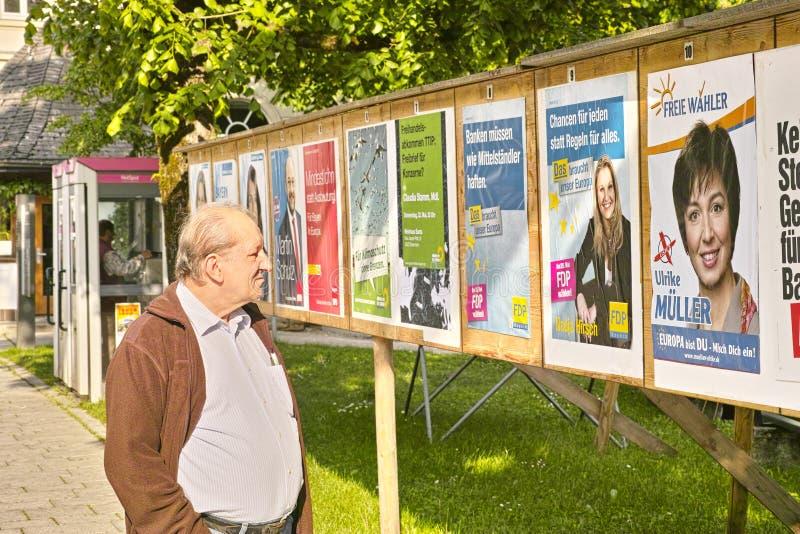 欧洲选举选民2014年在德国 免版税图库摄影