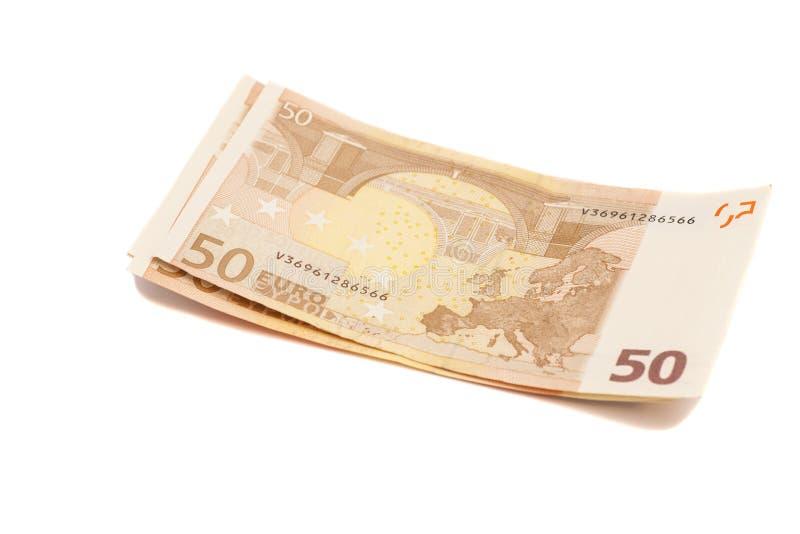 欧洲金钱钞票 50欧元 图库摄影