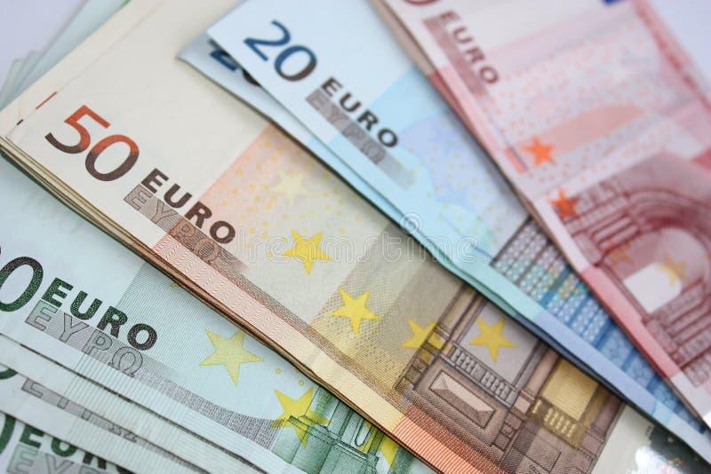 欧洲金钱 免版税库存图片