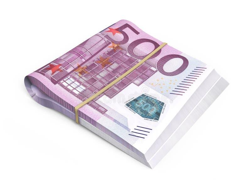 500欧洲钞票堆 皇族释放例证