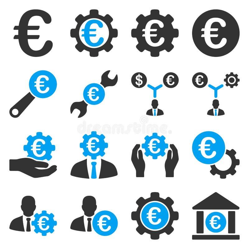 欧洲银行业务和服务工具象 向量例证