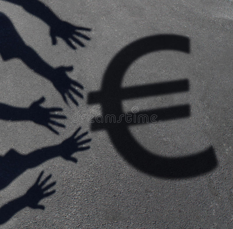 欧洲需求 库存例证