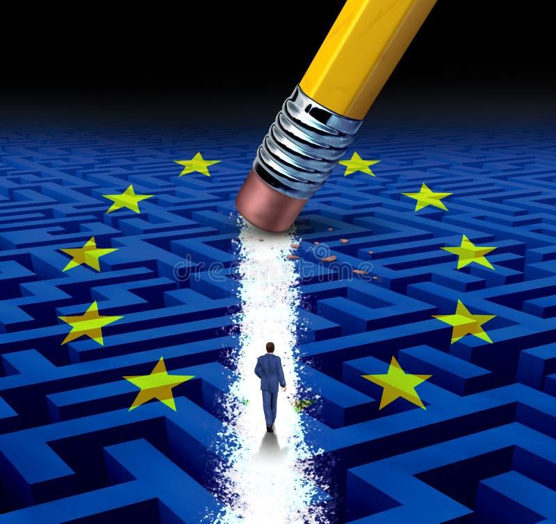 欧洲领导解答 皇族释放例证