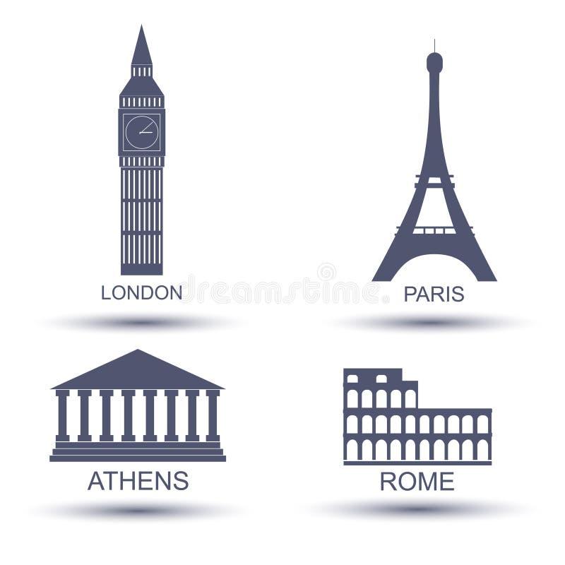 欧洲首都 库存例证