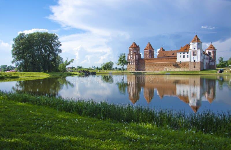 欧洲,白俄罗斯,历史:米尔城堡群 免版税库存图片