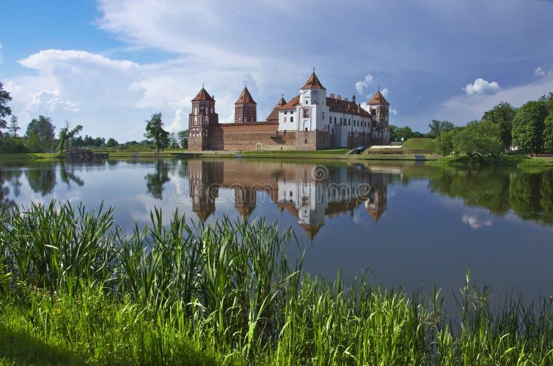 欧洲,白俄罗斯,历史:米尔城堡群 库存图片