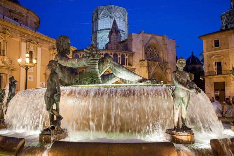 欧洲,西班牙,巴伦西亚,城市cente 免版税库存图片