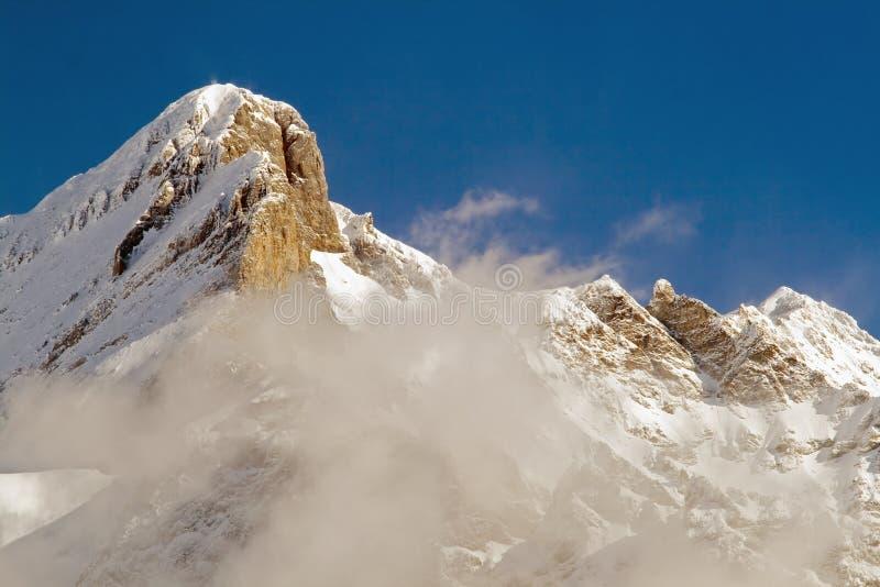 欧洲jungfrau山顶顶层 图库摄影