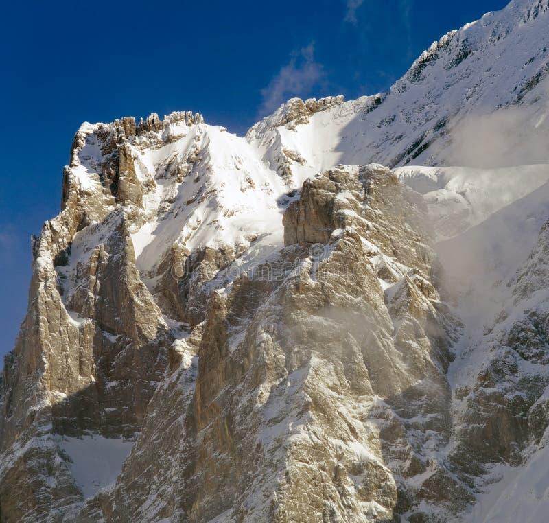 欧洲jungfrau山顶顶层 免版税库存照片
