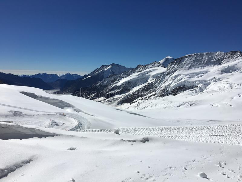 欧洲Jungfraujoch的上面 免版税库存照片