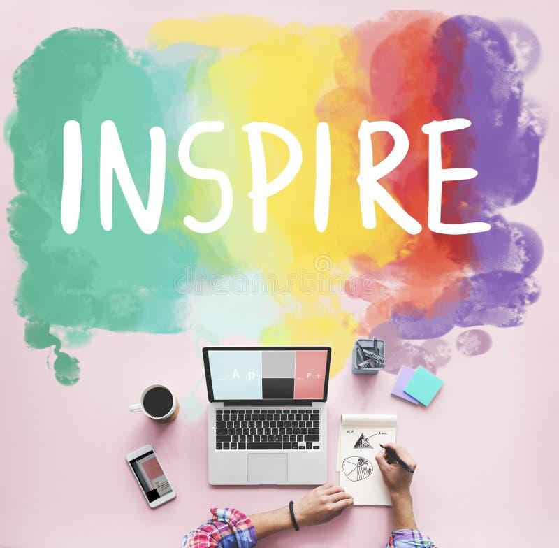 欲望启发目标跟随您的梦想概念 库存图片