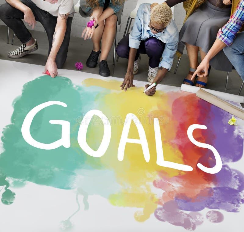 欲望启发目标跟随您的梦想概念 库存照片