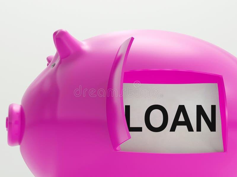 贷款存钱罐意味金钱被借用的或债权人 皇族释放例证
