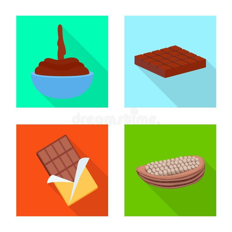 款待和产品标志的传染媒介例证 设置款待和美味的股票简名网的 库存例证