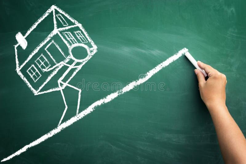 贷款的偿还房子的 免版税库存照片