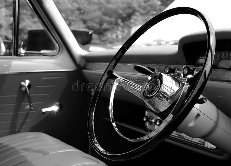 1950款经典轿车内饰 免版税库存照片