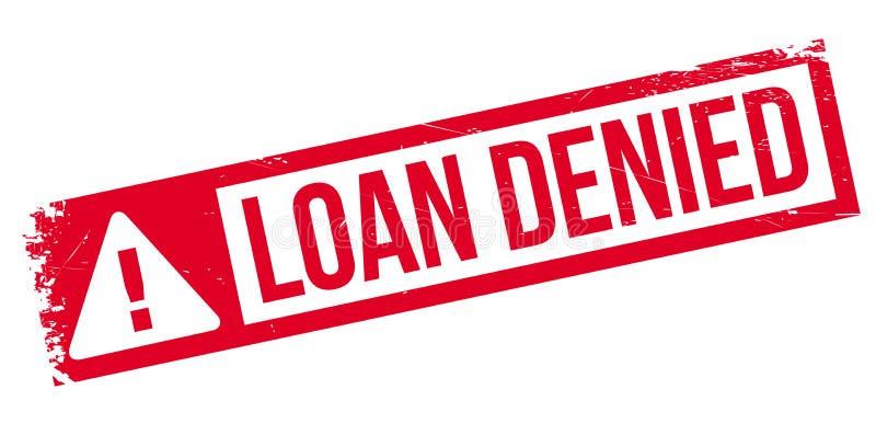 贷款被否认的不加考虑表赞同的人 向量例证