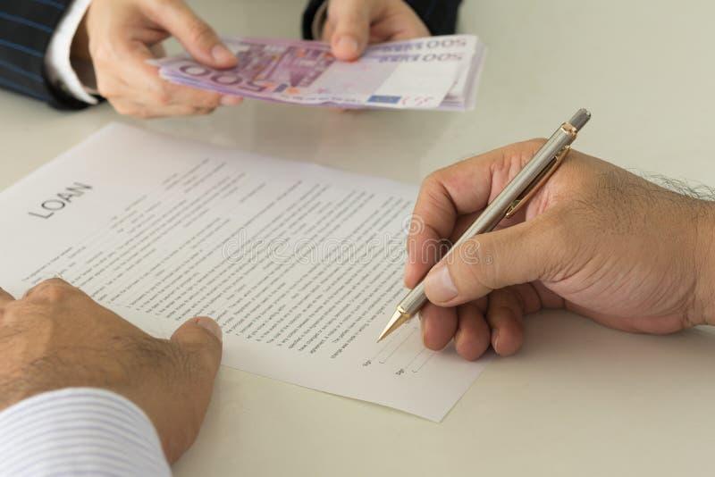 贷款金钱 免版税图库摄影