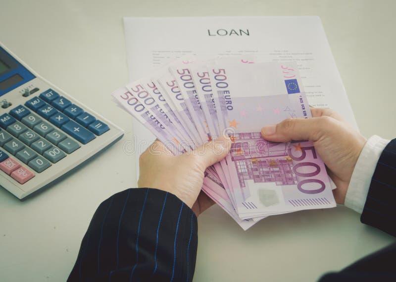 贷款金钱 库存照片