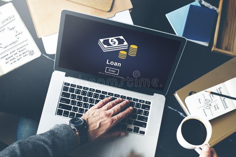 贷款银行业务资本债务经济金钱借用概念 免版税库存照片