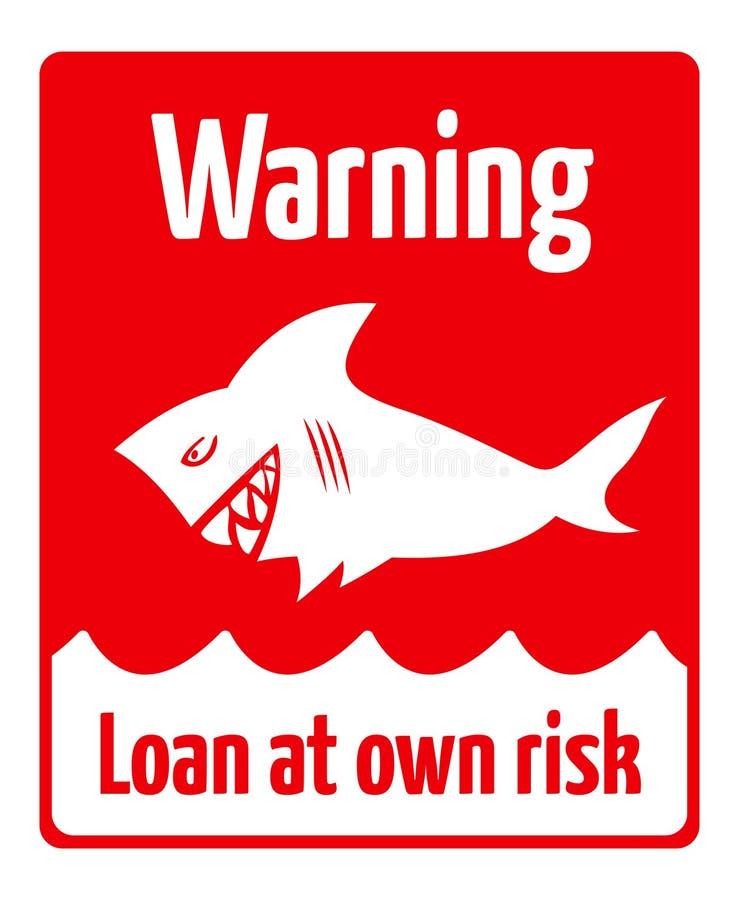 贷款风险 皇族释放例证