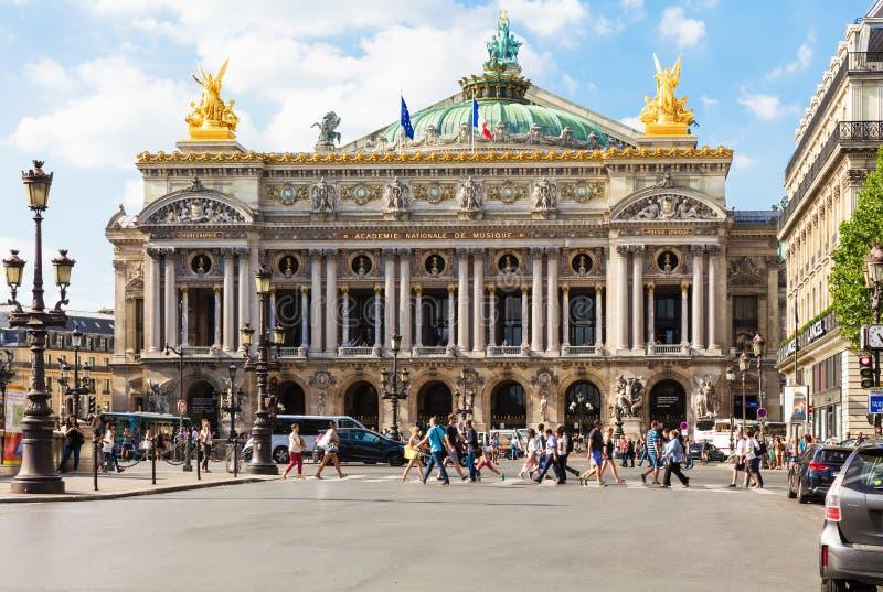 歌剧全国de巴黎-大歌剧歌剧Garnier,巴黎, Fr 库存照片
