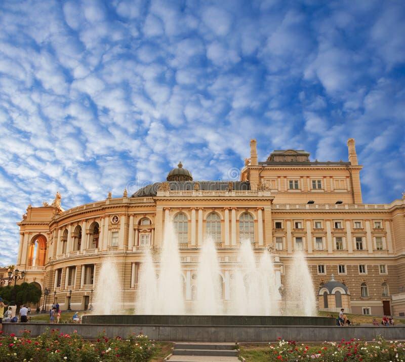 歌剧和芭蕾傲德萨剧院  免版税库存照片