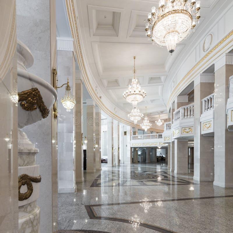歌剧和芭蕾全国越野障碍赛马剧院在米斯克 内部 库存图片