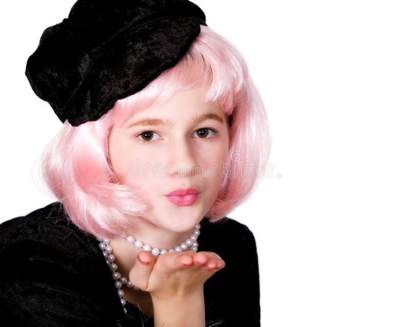 歌剧女主角亲吻 免版税库存照片