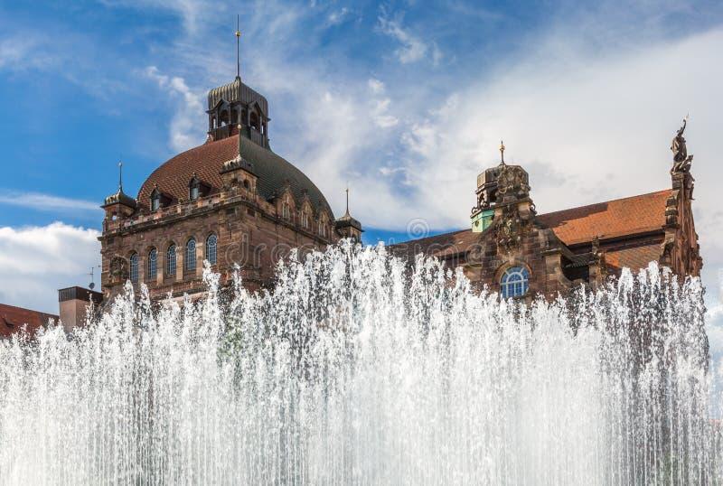 歌剧院圆顶纽伦堡,德国 库存照片