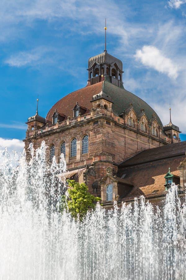 歌剧院纽伦堡,德国 库存图片