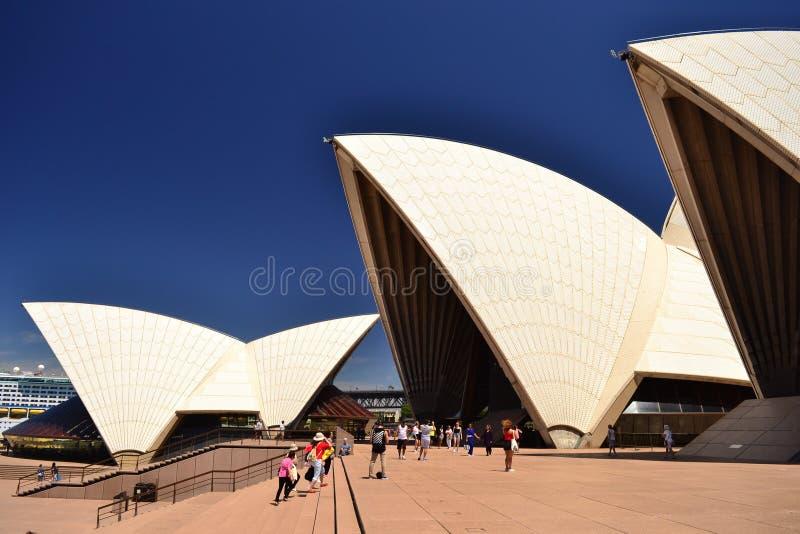 歌剧院细节,澳大利亚,悉尼 免版税库存图片