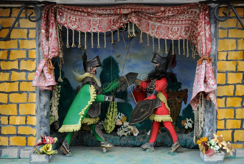 歌剧dei的Pupi传统西西里人的牵线木偶 免版税库存图片