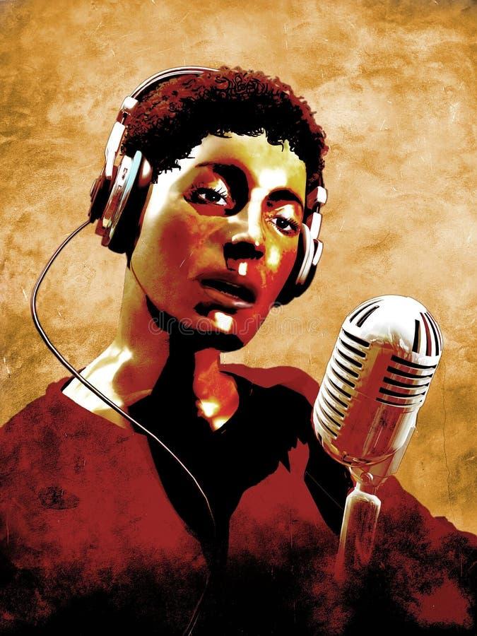 歌唱家灵魂 库存例证