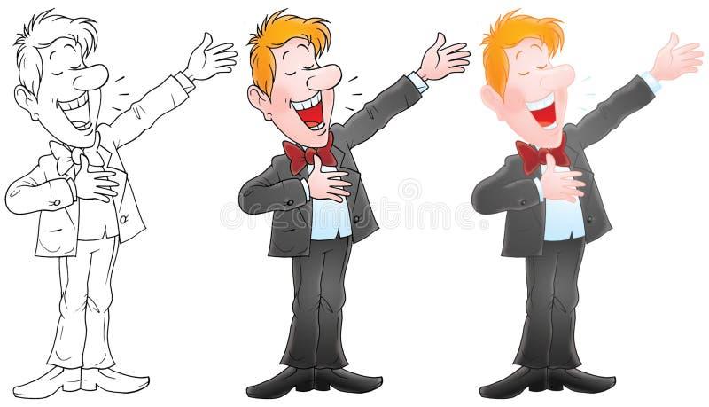 歌唱家 向量例证